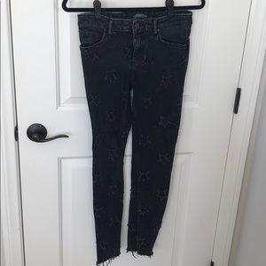 ZARA Skinny Black Star Jeans
